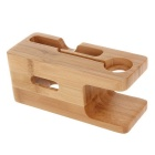 Bamboo Charging Dock Cradle Holder for Apple Watch / IPHONE 6 / 6 Plus / 5S / 5C / 5 - Wood Color