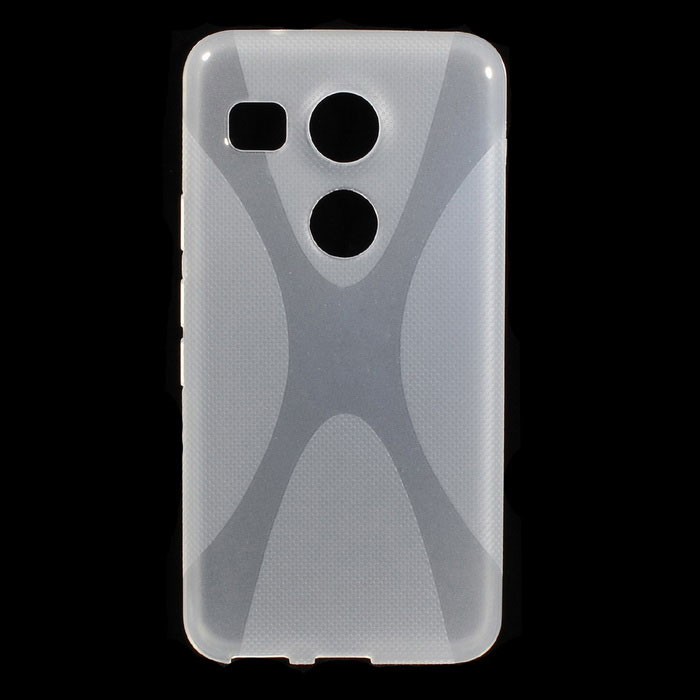 X Style Protective TPU Back Case for Google Nexus 5X - TranslucentTPU Cases<br>Form ColorTranslucentModelN/AMaterialTPUQuantity1 DX.PCM.Model.AttributeModel.UnitShade Of ColorTransparentCompatible ModelsGoogle Nexus 5XOther FeaturesProtects your Google Nexus 5X from scratches, dust, shock and abrasion;<br>Precise design allows to access to all the interfaces and controls easily;<br>X style, with anti-slip designPacking List1 x Case<br>