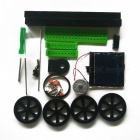 Manual DIY Educacional Ensamblado Solar Powered Car Model Toy - Preto