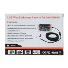 6-LED 7mm Lens Mobilephone Endoscope BoreScope - Black (1.2m)