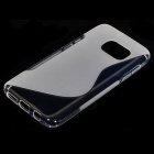 """S"" Style Protective TPU Back Case for Samsung Galaxy S7 - Transparent"