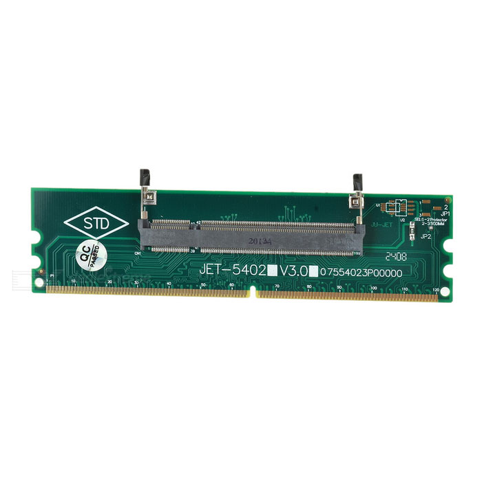DDR2 PC Memory Adapter Card - Green + Black + Multicolor