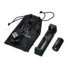 "XTAR MC1 1-Slot Battery Charger + Rechargeable ""800mAh"" 18350 Battery Set - Black"