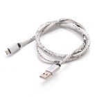 Micro USB 2.0 Charging & Data Cable - White + Black (90cm)
