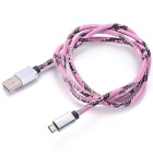 Micro USB 2.0 Charging & Data Cable - Black + Pink (90cm)