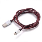 Micro USB 2.0 Charging & Data Cable - Red + Silver (90cm)