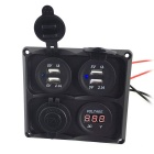 IZTOSS 12-24V Car Cigarette Lighter, Charger, Voltmeter Combo Panel