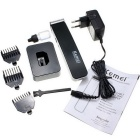 KM-619 Professional Portable Rechargeable Electric Hair Clipper - Black