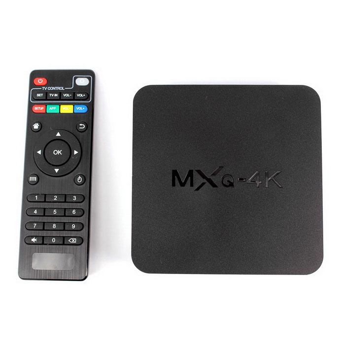 MXQ Quad-Core Android 4.4 TV Player w/ 8GB ROM - Black (US)
