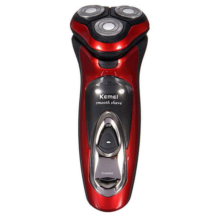 KM-5880 Mens Electric Rechargeable Washable Shaver w/ Three Shaver Heads - Red + BlackShavers Razors<br>ModelKM-5880Form ColorRed + BlackMaterialABSQuantity1 DX.PCM.Model.AttributeModel.UnitShade Of ColorRedRazor TypeElectricShaver Head TypeRotating TypeShaver Head Number3Blade Number3Washing ModeWater WashDisposableNoPowered ByBuilt-in BatteryPower AdapterEU PlugWorking Voltage   220~240 DX.PCM.Model.AttributeModel.UnitOther FeaturesInput of shaver: DC 2.8V 100mA; Input of adapter: AC 220~240V 50HzPacking List1 x Electric Shaver1 x EU Plug Power Adapter(cable 145cm)1 x Cleaning Brush1 x Shaver Head Cover1 x Cloth Bag1 x English User Manual<br>