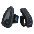 Motorcycle Helmet Bluetooth Headset Intercom - Black + Grey (US Plug)