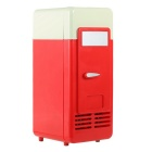 Household / Car Mini USB Dual Use Refrigerator Fridge / Drink Heater - Red