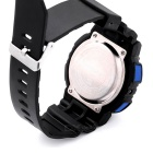 SANDA Waterproof Japanese Movement Digital Analog Watch - Black + Blue
