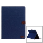 PU Case w/ Auto Wake-up / Sleep Function for IPAD Pro - Blue + Brown