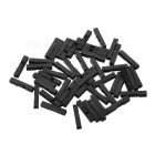 Pang Xie Wang Guo Dupont 2.54mm Housing 1P Connectors - Black (50PCS)