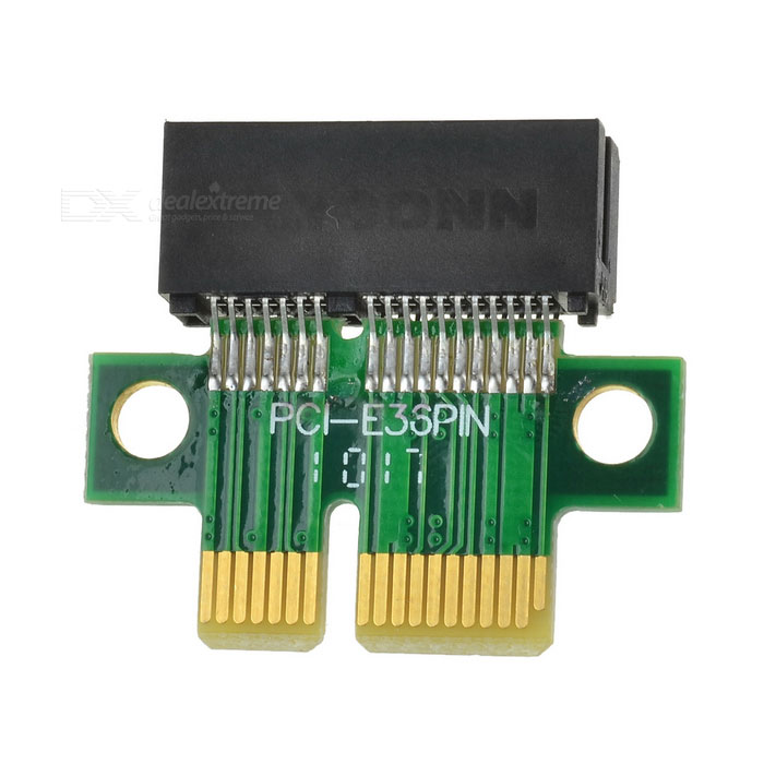 PCI-E 1X Adapter - Green + Black