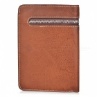 DBLO Men's Fashionable Short PU Leather Wallet Purse w/ Zippered Pocket - Coffee