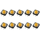 DIY Model Making Tact Switches - Black + Yellow (10PCS)