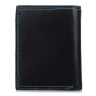 Casual Breve PU Leather Wallet borsa DBLO Uomo - Nero