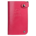 DBLO Simple Casual Leather 30 Cards Holder Organizer Manager - Deep Pink