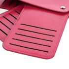 DBLO Casual Leather 30 Cards Holder Organizer Manager - Deep Pink