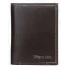 DBLO Men's Fashionable Casual Short PU Leather Wallet Purse - Coffee