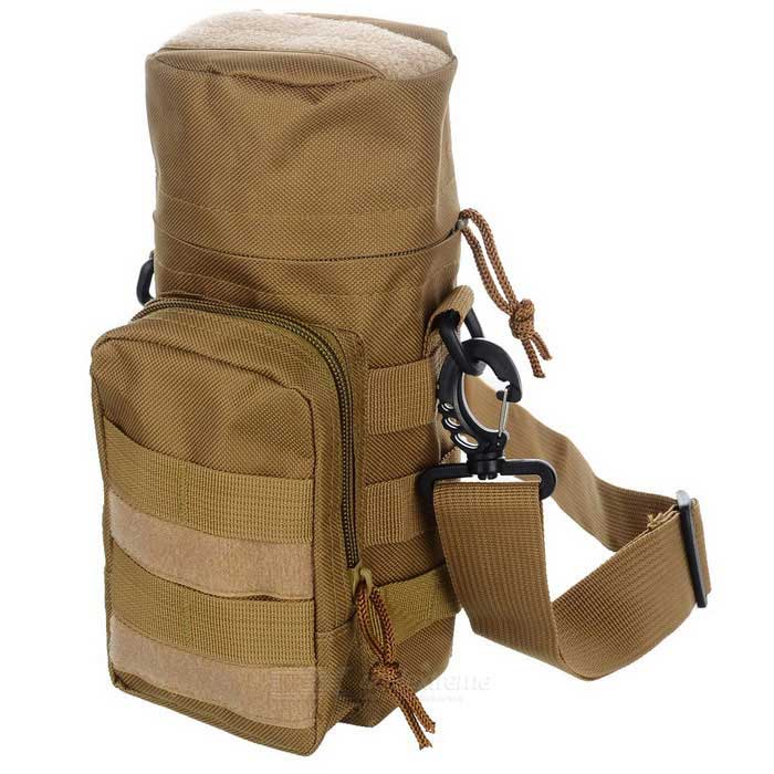 Outdoor Sports 600D Oxford Nylon Water Bottle Bag - Khaki