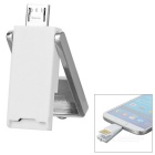 Multifunctional Micro USB to OTG TF Card Reader for Android Phones - White