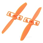 DIY CW & CCW Propellers for FPV Quadcopter - Orange (Pair)