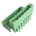 HZDZ 6-Pin 5.0mm Interval Bilayer Binding Post Terminals - Green