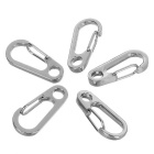 FURA Outdoor Quick Release Ring + D1 Carabiner Keychains Set - Silver