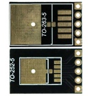 TO263-5 / TO252-5 to DIP LM2596 / LM2576 Adapter Board for DIY - Black + Golden (2PCS)