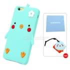 Cartoon Pattern Protective Silicone Case for IPHONE 6/6S - Mint Color