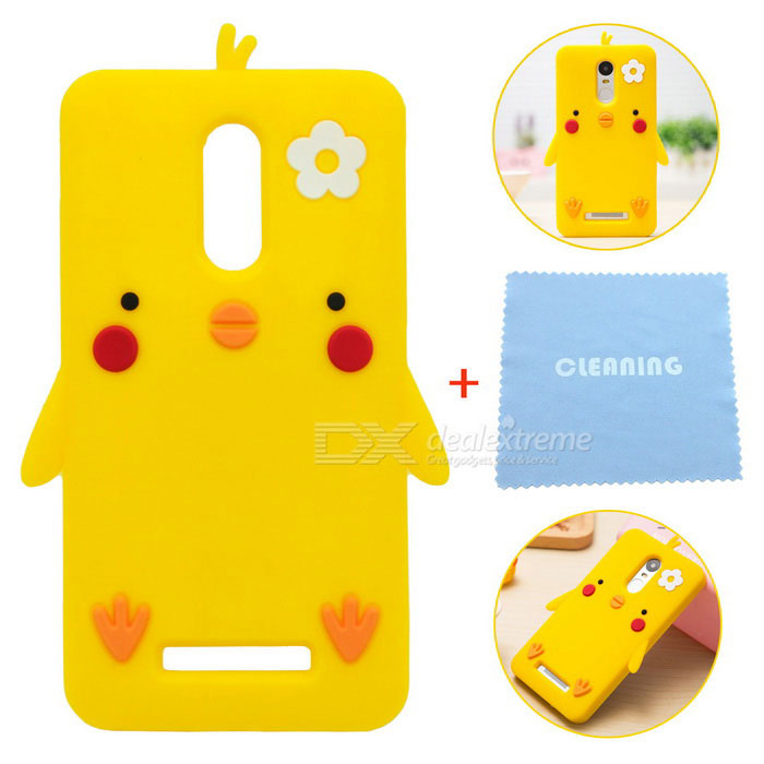the latest 00e01 31f1d Cute Cartoon Pattern Protective Drop Resistance Silicone Case for Redmi  Note 3 - York Yellow