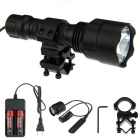 FandyFire C8 L2 1200lm White Light Tactical Flashlight - Black