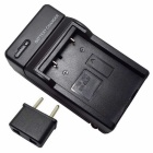EU Plug Adapter + US Plug Camera Battery Charger for EN-EL5 - Black