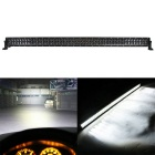 Combo 500W 42500lm 100-LED White Light Offroad Car Light Bar - Black