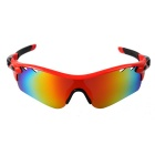 Outdoor Sport Polarized Red REVO Lens Sunglasses Goggles - Red + Black