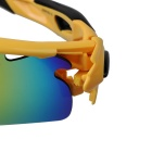 Outdoor Polarized Red REVO Lens Sunglasses Goggles - Black + Yellow