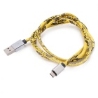 Universal Micro USB 2.0 Charging Data Cable - Black + Yellow (90cm)
