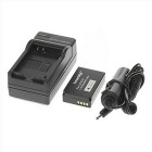 ismartdigi LP-E 1200mAh Camera Battery + Car Charger for Canon - Black