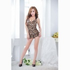Leopardo Padrão Tight Sling Hip Package Vestido - Leopard Black
