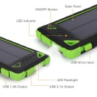 "SUNGZU 2-USB ""8000mAh"" Solar Power Bank + LED + Bolsa - Verde"