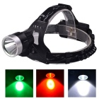 RichFire SF-649G USB Green LED Headlamp - Black + Silver (2*18650)