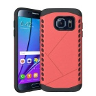 Protective TPU Back Case for Samsung Galaxy S7 Edge - Red + Black