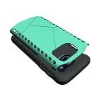 Protective TPU Back Case for Samsung Galaxy S7 Edge - Green + Black