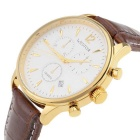 WESTCHI W9104GDGDBN-4T3 Men's Watch w/ 3 Sub-dials - Golden + Red