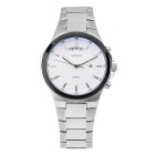 WESTCHI W9102GDTB-4 Men's Waterproof Quartz Watch - Silver + White