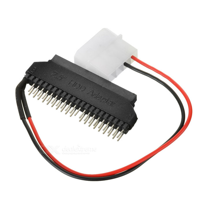 IDE Female to 3.5 IDE Power Cable - Black + Red (18.5cm)