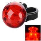 Outdoor Cycling Red Light 3-Mode 5-LED Bike Safety Warning Tail Light - Red + Black (2*CR2032)